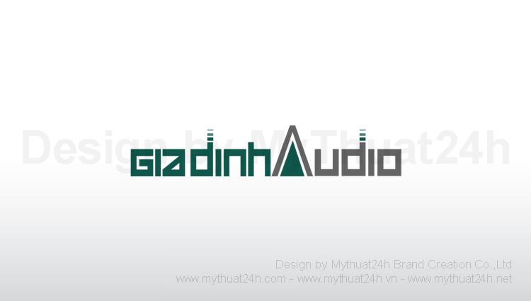 Thiết kế logo cty TNHH GIA ĐỊNH AUDIO