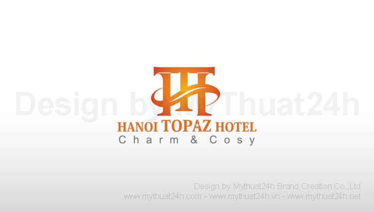 Thiet ke logo Khach San Ha Noi Topaz Hotel