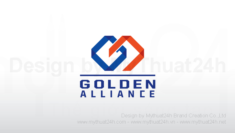 Thit k logo Golden Alliance International