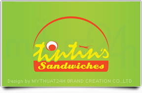 Thit k logo thng hiu Tintin&#039;s Sandwiches