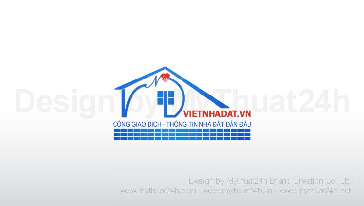 Thiết kế logo Việt Nhà Đất