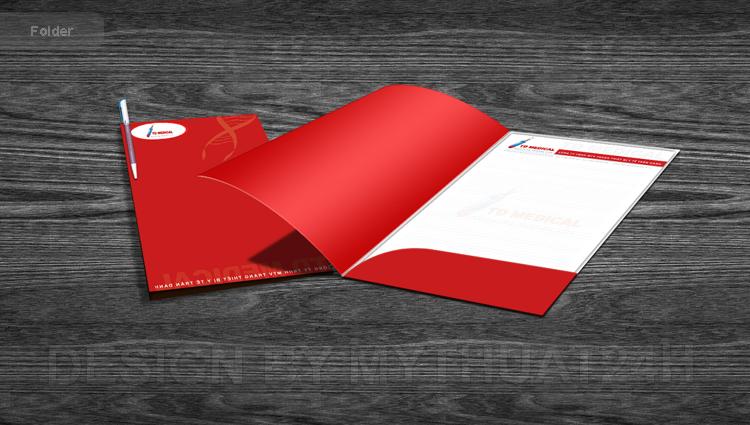 Thiết kế folder công ty tnhh trang thiết bị y tế trần danh