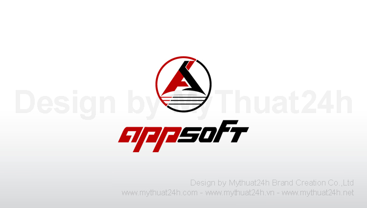 Thiet ke logo App Soft