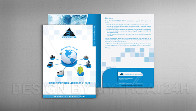 Thiết kế Catalogue Folder Bảo Thịnh