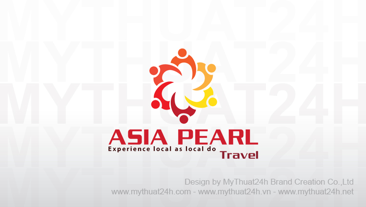 Thiet ke logoASIA PEARL TRAVEL