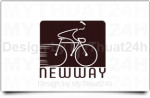 Thiet ke logo xe dap Newway