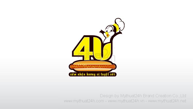 Thiết kế logo nhãn hiệu thực phẩm 4U
