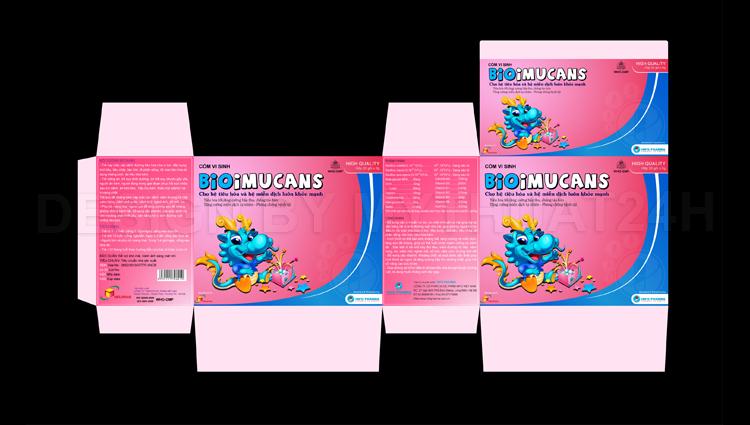 Thiết kế bao bì cốm vi sinh BioImucans