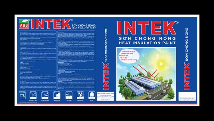 Thiết kế bao bì sơn INTEK