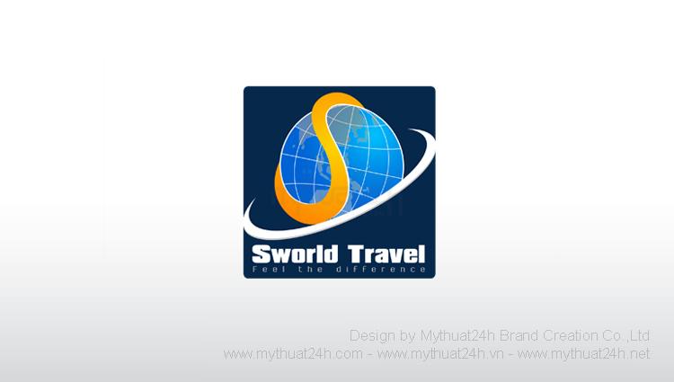 Thiết kế logo Sworld Travel