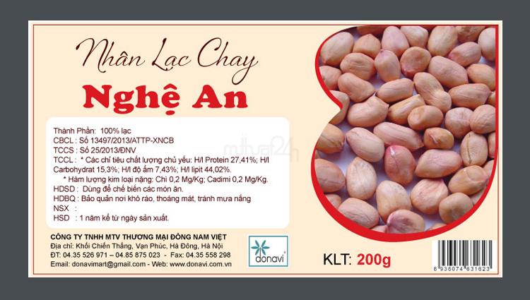Thiết kế nhãn mác sản phẩm Nhân Lạc Chay