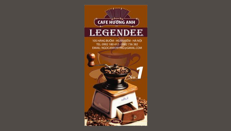 Thiết kế nhãn mác sản phẩm cafe Legendee