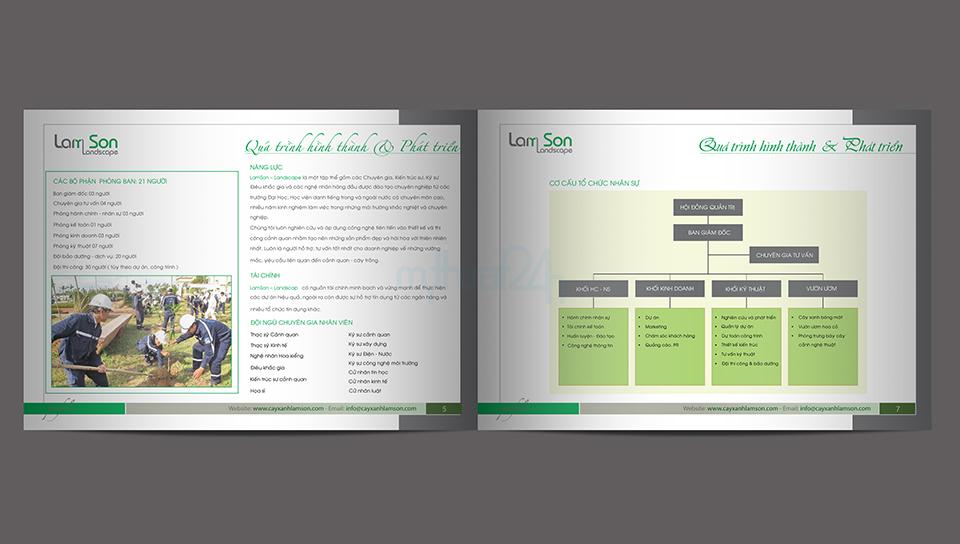 Thiết kế profile công ty cổ phần cây xanh Lam Sơn
