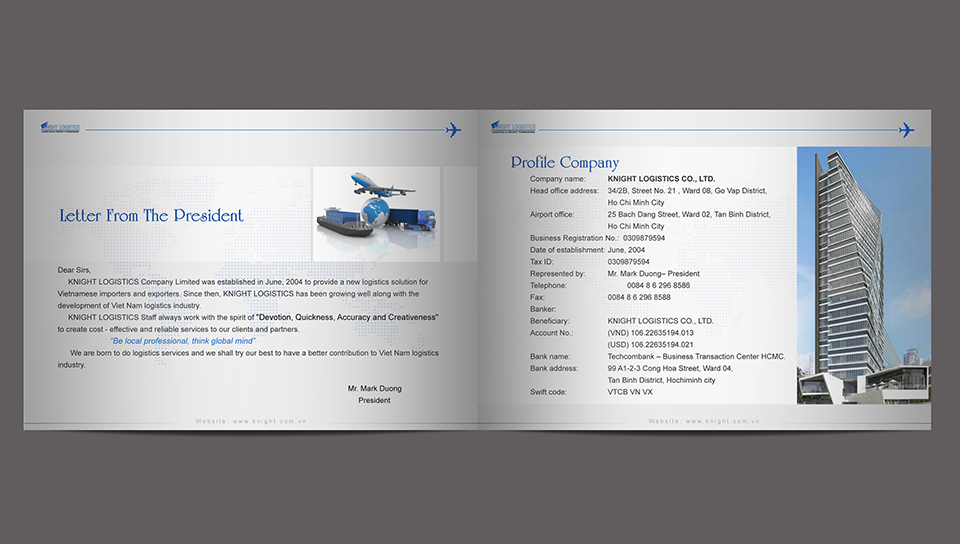 Thiết kế catalogue công ty Knight