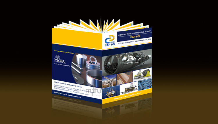 Thiết kế catalogue công ty thiết bị công nghiệp Cấp Độ