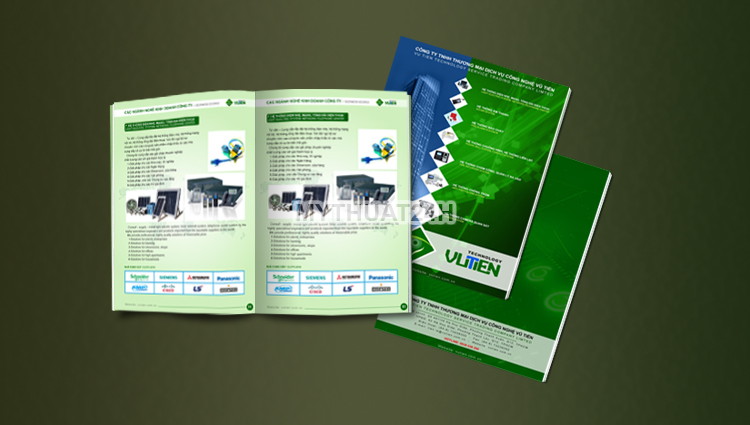 Thiết kế profile công ty Vũ Tiến