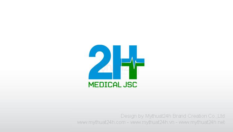 Thiết kế logo Công ty Cổ Phần Thiết Bị Vật Tư Y Tế 2H