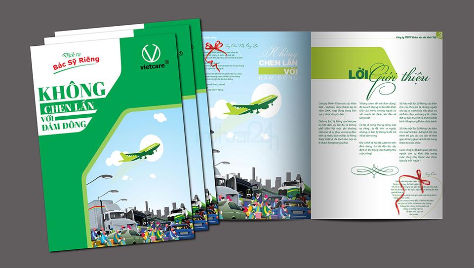 Thiết kế catalogue công ty Chăm sóc sức khỏe việt