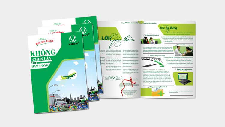 Thiết kế catalogue công ty Chăm sóc sức khoae việt