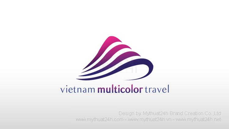 Thiết kế logo công ty TNHH du lịch và thương mại VIÊT NAM ĐA SẮC MÀU