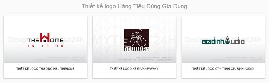 Thiết kế logo Hàng Tiêu Dùng Gia Dụng
