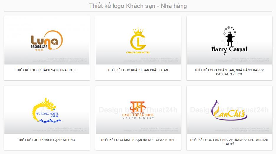 Thiết kế logo Khách sạn - Nhà hàng