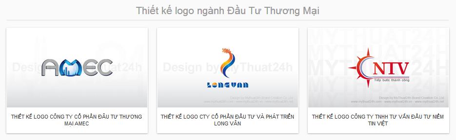 Thiết kế logo ngành Đầu Tư Thương Mại