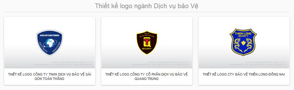 Thiết kế logo ngành Dịch vụ bảo Vệ