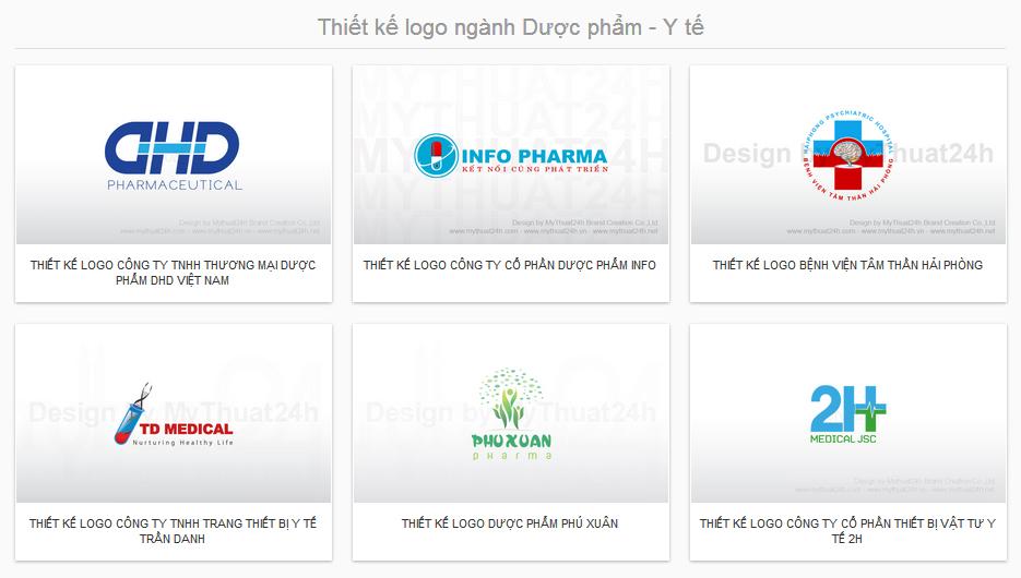 Thiết kế logo ngành Dược phẩm - Y tế
