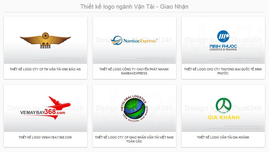 Thiết kế logo ngành Vận Tải - Giao Nhận