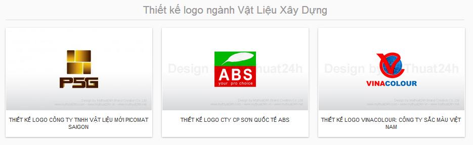 Thiết kế logo ngành Vật Liệu Xây Dựng