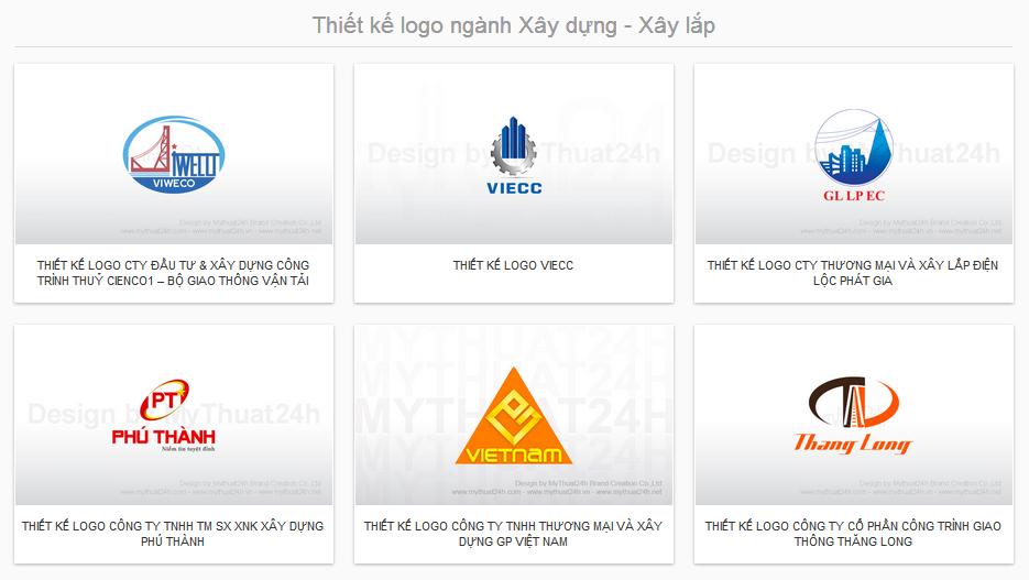 Thiết kế logo ngành Xây dựng - Xây lắp