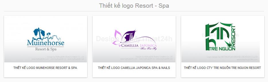 Thiết kế logo Resort - Spa