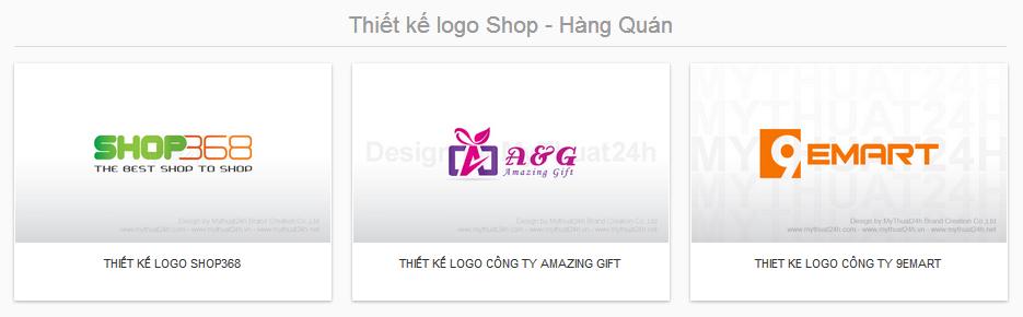 Thiết kế logo Shop - Hàng Quán