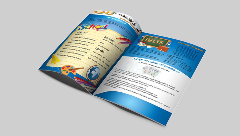 Thiet ke brochure Truong THPT THCS Dong Nam A 2