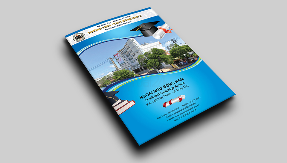 Thiết kế brochure trường THCS THPT Đông Nam Á