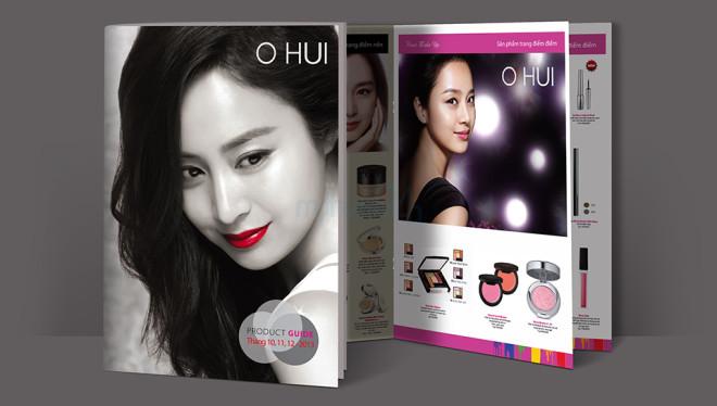 Thiet ke catalogue thuong hieu My pham han Quoc Ohui