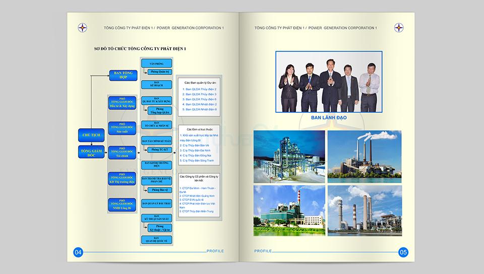 Thiết kế profile Tổng công ty phát điện 1