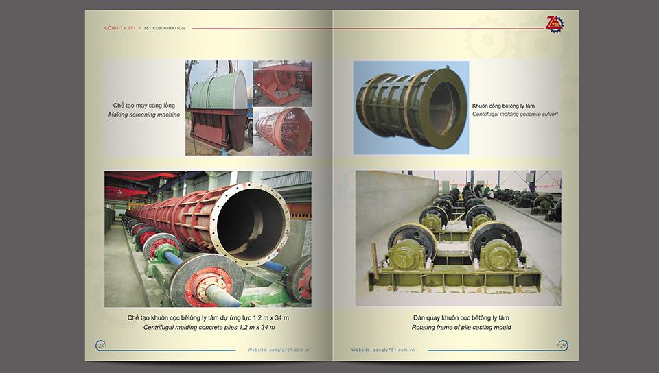 Thiết kế catalogue Công ty Z751 - Bộ Quốc Phòng