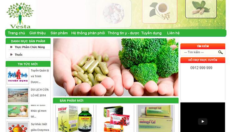 thiết kế website Vesta