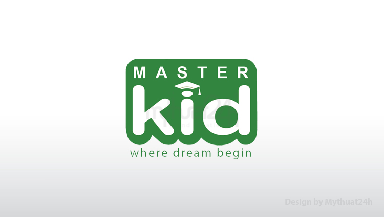 Thiết kế logo Trường Mầm Non Master Kid