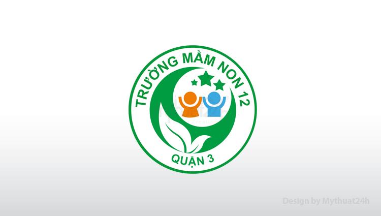 Thiết kế logo Trường Mầm Non Quận 3